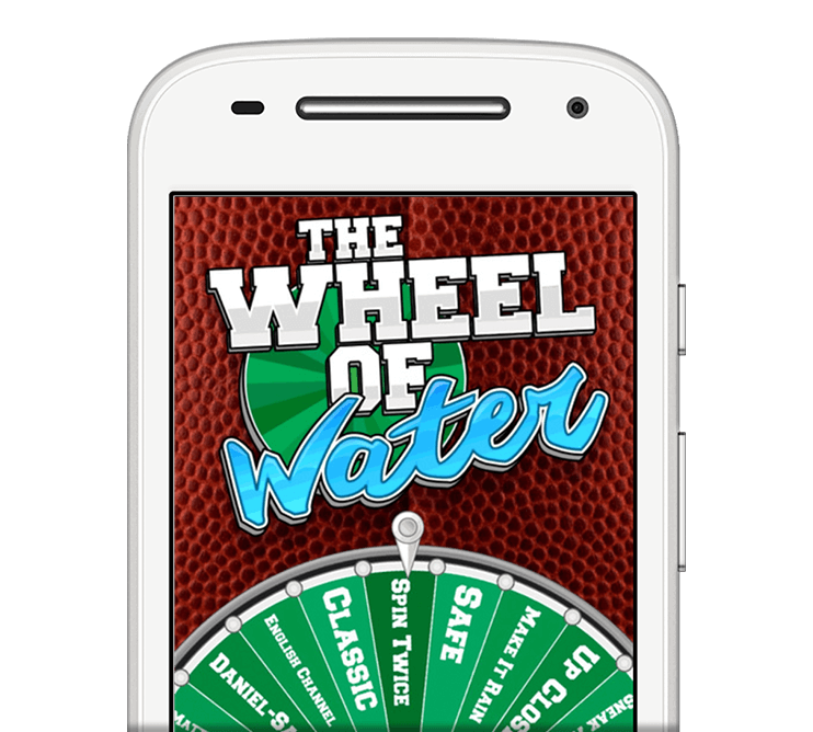 android app - The Wheel of Water App from The Fantasy Footballers